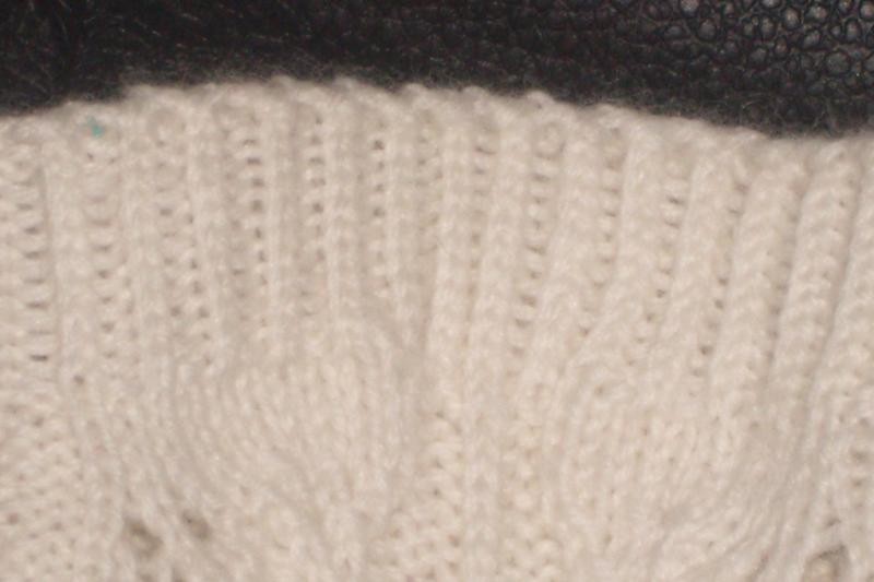 Twisted Knit Rib Example